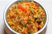 Homemade Vegetables Biryani