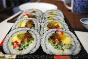 Vegetarian Sushi Roll Part 2  - Assembling