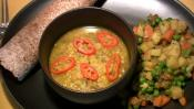 Vegetable Curry And Spiced Dal