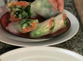 Thai Spring Rolls With Peanut Dipping Sauce