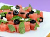 Watermelon And Feta Cheese Salad By Tarla Dalal