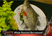 Whole Roasted Stuffed Barramundi