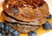 Wholesome Whole Wheat Protein Pancakes With Blueberries