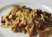 Whole Wheat Tortilla Chorizo Scramble