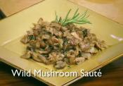 Butternut Squash Soup With Wild Mushroom Saute