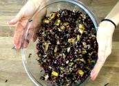 Wild Rice With Acorn Squash, Walnuts And Ruby Red Pomegranate