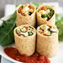 Herbed Cheese And Greens Wrap *works With Cookin Greens Chopped Rapini, Spinach, Kale Or Athletes Mix