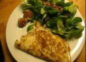 Omelette With Yeast And Camembert Cheese