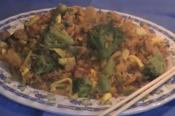 Stir Fried Yellow Rice With Beef And Vegetables