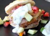 Yogurt-marinated Lamb With Tomato-cucumber Relish Pita Sandwiches