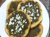 Zaatar Flatbread With Feta Cheese
