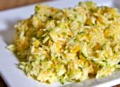 Cheesy Zucchini Rice-- Easy Summer Side Dish 