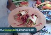 Zucchini Wraps With Cranberry Orange Salsa