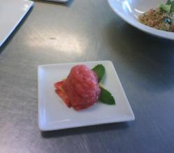 Raspberry and Orange sorbet
