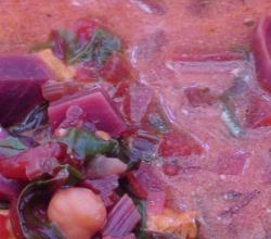 Beet and Chicken Borscht