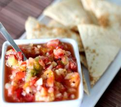 Apple Berry Salsa with Cinnamon Tortilla Chips