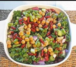 Green Bean, Kidney Bean and Chick Pea Salad