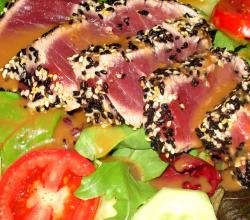 Seared Tuna With Sesame Seeds
