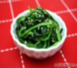 Korean Food: Spinach Side-Dish (시금치 나물)