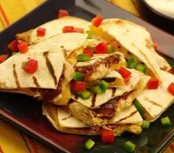 Grilled Smoked Barbecue Chicken Quesadillas
