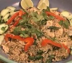 Basil Chicken Fried Rice