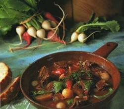 Beef Stew with Turnips (Beef Bourguignonne)