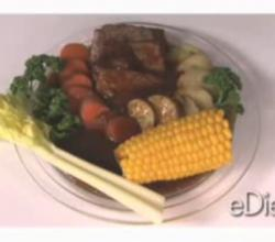 Beef Pot Roast with New Potatoes and Corn 