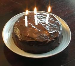 Vegan Banana Birthday Cake