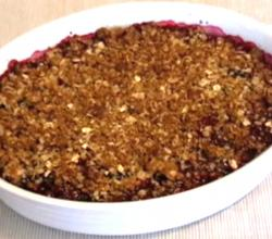 Valentine's Day Blackberry Crisp