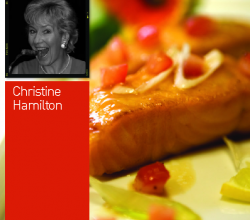 Christine Hamilton's Pan Fried Salmon Fillets with Summer Sauce