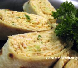 Chicken Curry Lefse Roll