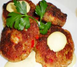 Easy Crawfish Cakes With Mustard Sauce