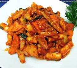 Korean Food: Dak Galbi (닭갈비)