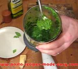 Ligurian Basil Pesto Part 2 - Making