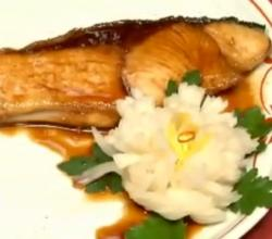 Grilled Yellow Tail Teriyaki & Pickled Turnip