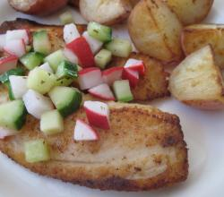Tilapia and Cucumber Radish Relish
