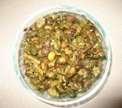 Bindi Fry with Groundnuts