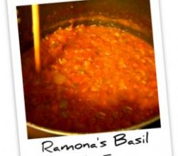 Tomatoes and Thai Basil Pasta Sauce