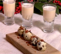 Eggnog And Quail Egg Shooters Recipe