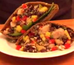Black Bean And Quinoa Pita Pocket