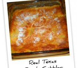 Baked Texan Peach Cobbler