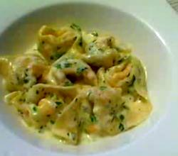 Wild Salmon Spring Peas And Ricotta Tortellini With Lemon Sauce