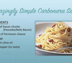 How To Make Carbonara Sauce