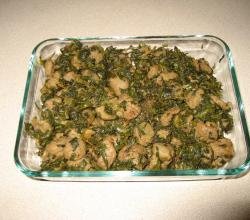 Soy Chunks with Spinach