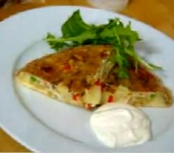 Vegetable Omelete with Garlic Mayonnaise