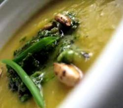 Spicy Pumpkin Soup with Pesto