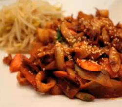 Korean Food: Spicy Fried Squid ( )