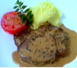 French Classic Steak Au Poivre