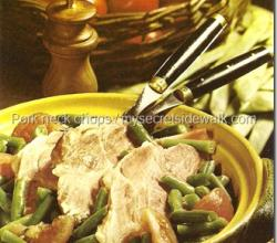 Stewed Pork Neck With Green Beans
