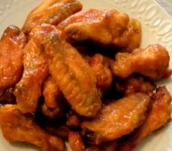 Hot And Sweet Mustard Glazed Chicken Wings